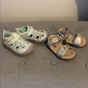 Two Pairs of Toddler Shoes Size 5 & 5.5